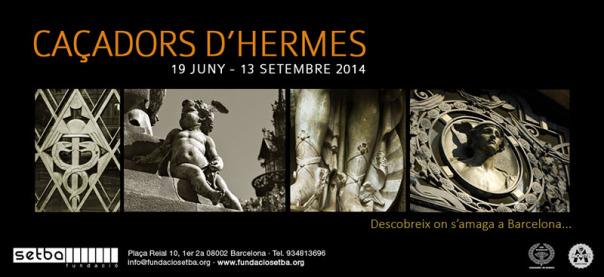 Cartel de la exposición fotográfica de los Cazadores de Hermes en el SETBA de plaça Reial de Barcelona